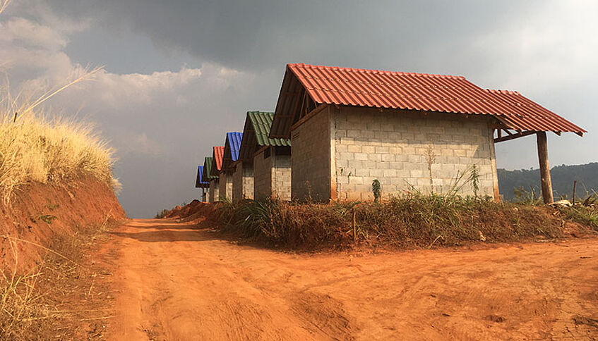Newly built houses in Mae Chaem District, Northwest Thailand